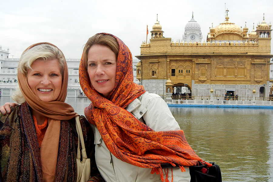 With Patti Bailey at the Golden Temple, Amritsar, India, 2012
