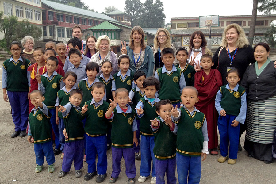 In 2014, I accompanied 30 physicians and therapists to bring donations to the Tibetan Children's Village. Our group visited with some of the children from the