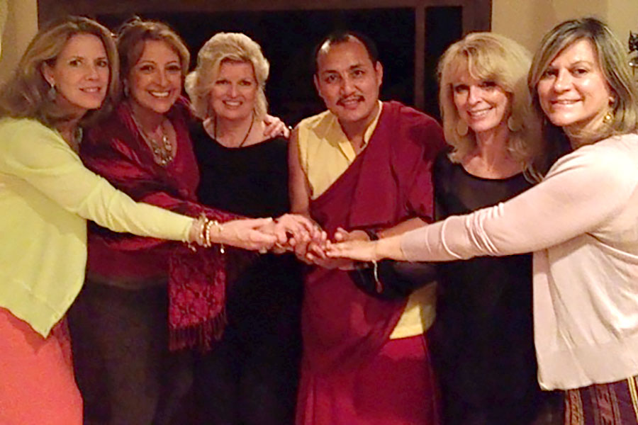 Patti Bailey, Dr. Ana Nogales, Sonnee, Lama Tenzin Choegyal, Jory Adamson and Claudia Diaz at fund-raising event for the CED House children 2014