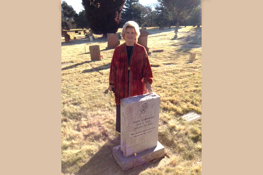 My mentor, Dr. Anne Lebowitz's gravestone was unveiled, 2015