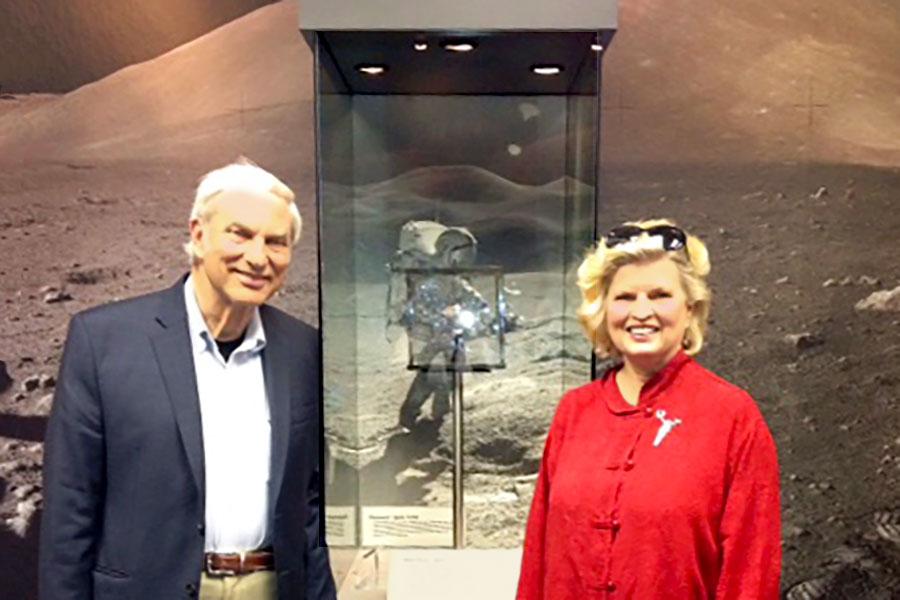 With Phil Erdberg, Ph.D., Deep Space 2013 committee members, at NASA Space Museum, 2014