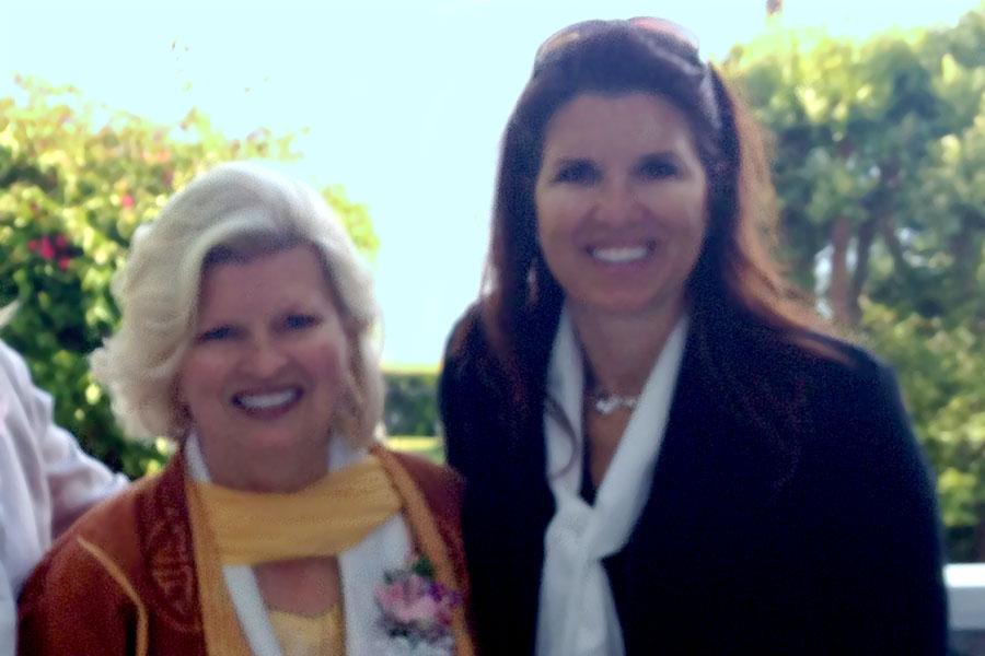 With Nanette Zumwalt at Prayer for Compassion tea, Malibu, CA, 2014